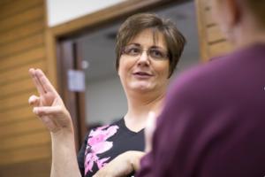 ASL program director Barbara Garrett