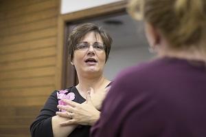 Dr. Barbara Garrett, professor of ASL Interpreting at William Woods.